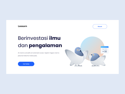 How to fly experience skill class education pigeon onboarding flatdesign simple landingpage ui design flat character vector illustration