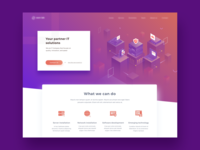 Landing Page for IT Company