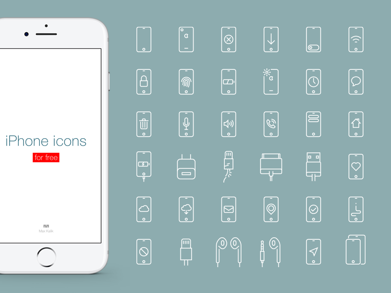 iPhone icons collection for free selection set collection graphic line line icon lightning apple phone iphone free icon