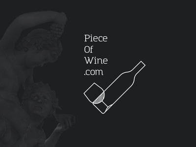 Piece Of Wine Logo visual winetasting whitewine redwine wine pieceofwine product design graphic design logo