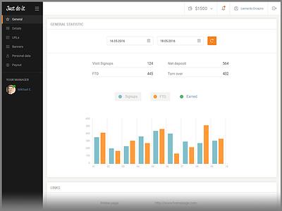Dashboard Web App UI CRM material design webdesign web app visualization ux ui report product interface dashboard crm