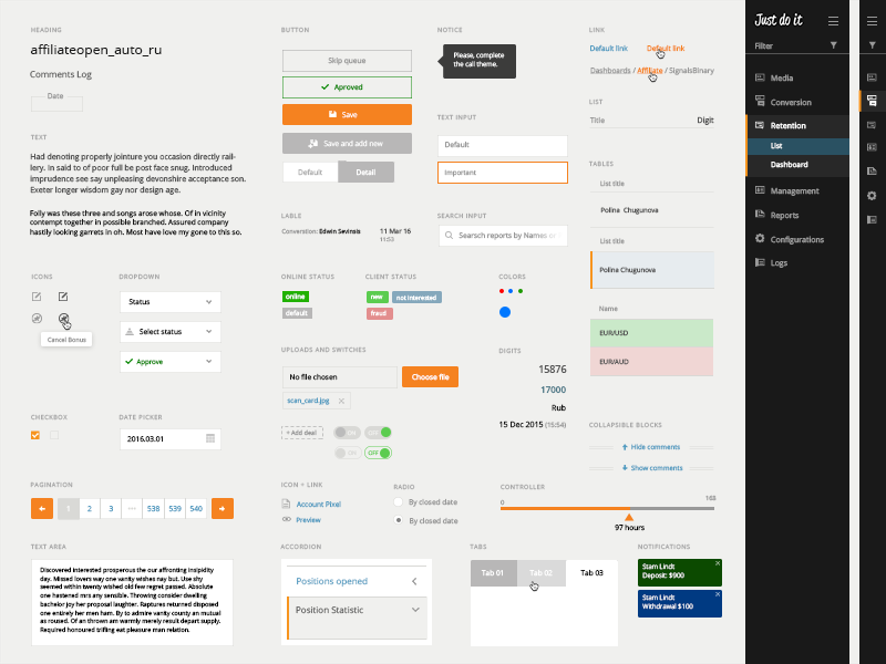 UI Elements PSD for free webdesign web app visualization ux ui report product material design interface ui elements guide
