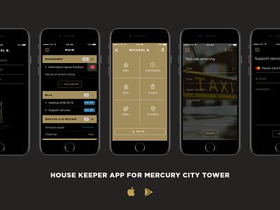 Mercury City Tower App Screens mercurycitytower ux ui product mobile iphone interface application app
