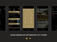 Mercury City Tower App Screens