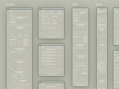 Responsive Layout wireframe layout webdesign platform interface prototype ux ui