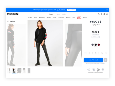 About You online store webdesig visual ui ui dress