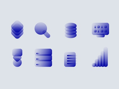 Icons for Datainvision graphic ui gradient icons