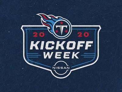 Tennessee Titans Kickoff Week Logo nfl titans football branding sports