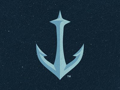 Seattle Kraken Secondary Logo branding sports nhl hockey space needle anchor kraken seattle