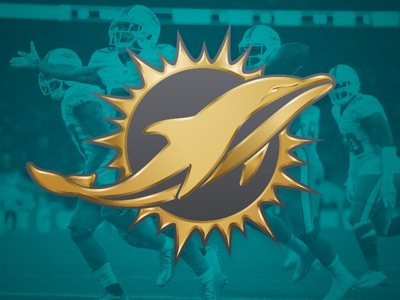 Miami dolphins gold logo by brian gundell dribbble for Dolphins t shirt new logo