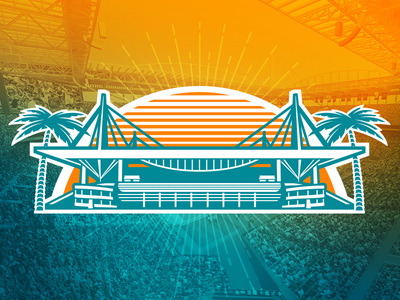 Sun Life Stadium Illustration football illustration logos nfl miami dolphins