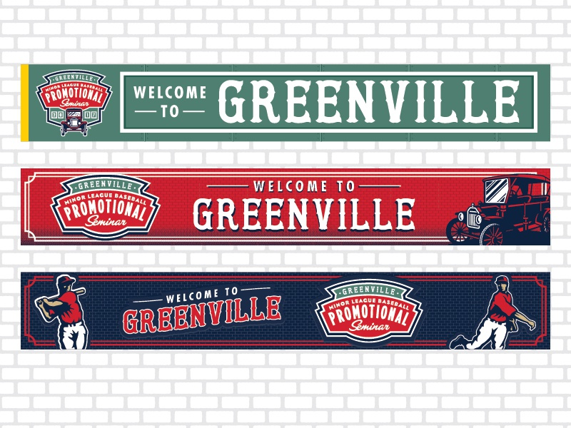 MiLB 2017 Promotional Seminar Banner Designs banners print minor league baseball baseball sports branding milb