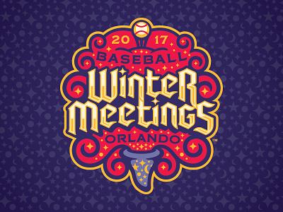 2017 Baseball Winter Meetings Primary Mark magic minor league baseball baseball sports branding milb