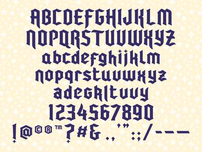 2017 Baseball Winter Meetings Custom Display Font magic blackletter type fonts minor league baseball baseball sports branding milb