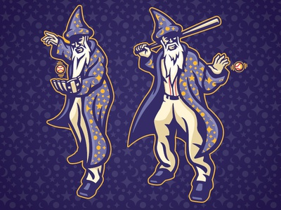 2017 Baseball Winter Meetings Player Art wizard magic minor league baseball baseball sports branding milb