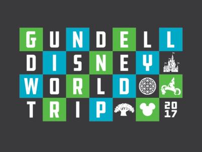 Disney World Trip Tee Design disney icons typography t-shirt disney world
