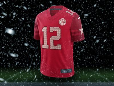 Staubachs Coffee War on Christmas Jersey Mockup uniforms football jersey design fantasy football
