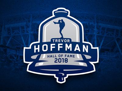 Trevor Hoffman Hall of Fame Induction Logo sports logos branding logos san diego padres major league baseball mlb baseball trevor hoffman