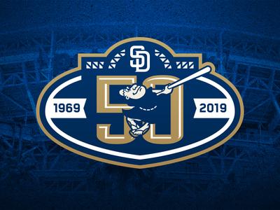 San Diego Padres 50th Anniversary Logo san diego friar padres baseball logos sports