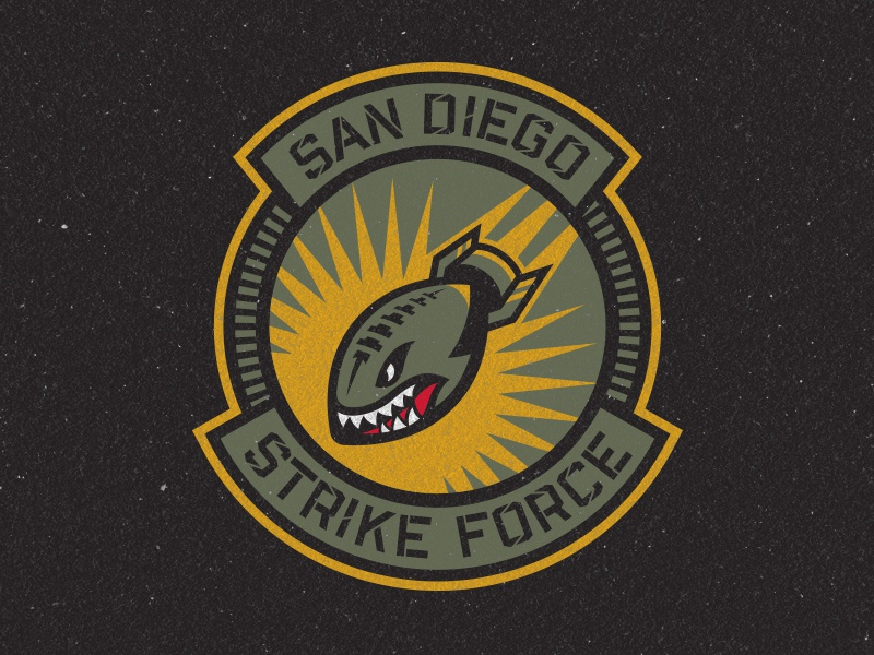 San Diego Strike Force Primary Logo by Brian Gundell on Dribbble