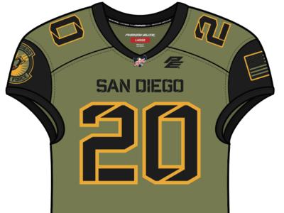 San Diego Strike Force Home Uniform by Brian Gundell on Dribbble