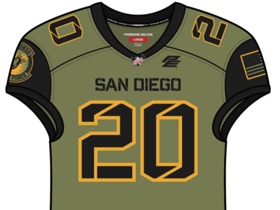 San Diego Strike Force Home Uniform marines us navy uniforms football branding sports fighter pilot san diego