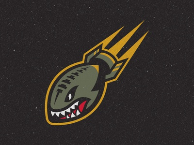 San Diego Strike Force Tertiary Logo bomb sports branding football san diego