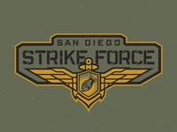 San Diego Strike Force Primary Wordmark