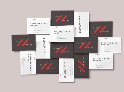 free Stacked business card mockup