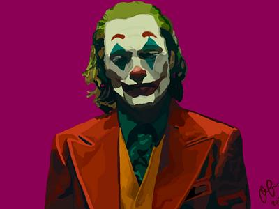 Joker Portrait poster brand logo movie oscars joaquin character illustration portrait the joker procreate digital art