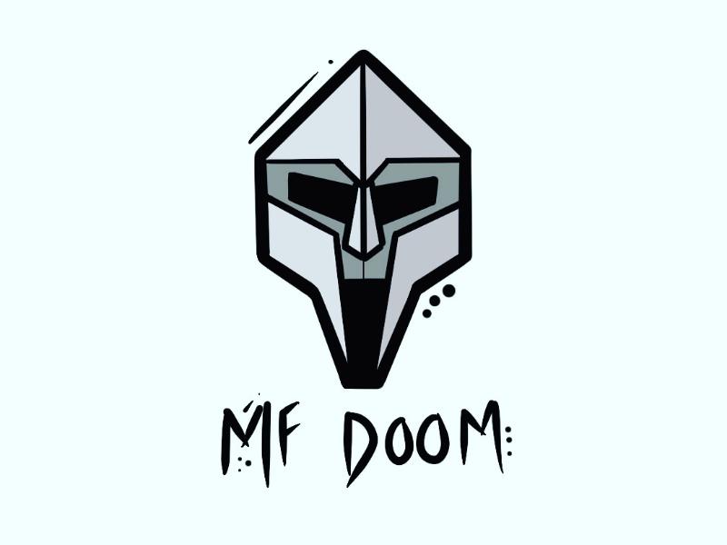MF DOOM vector digital art digital procreate illustration mask hip hop mf doom