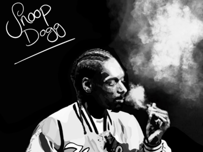 Digital painting of Snoop Dogg