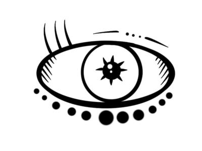 Cosmic eye vector design