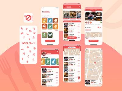 Intolerapp food app ui food and beverage food allergy food app food android app ux ui mobile app design mobile app ios app icon design app