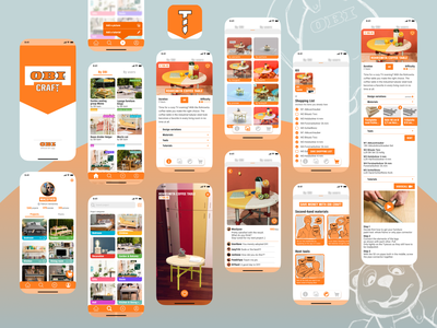 OBI Craft reply creative challenge diy app bricolage app obi reply challenge logo ux ui mobile app design mobile app ios app icon design app android app