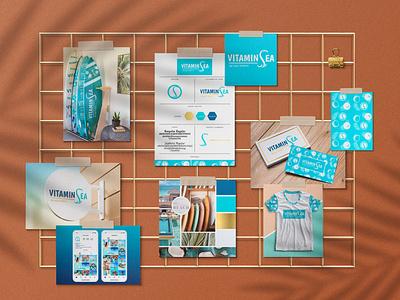 Vitamin Sea surf logo designs logo design visual identity branding design branding pattern design coconut maldives bali sup paddleboard yoga retreat yoga