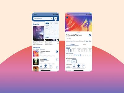The Movies movie theater cinema movie theatre movie app visual identity design icon android app ux ui mobile app design mobile app ios app app