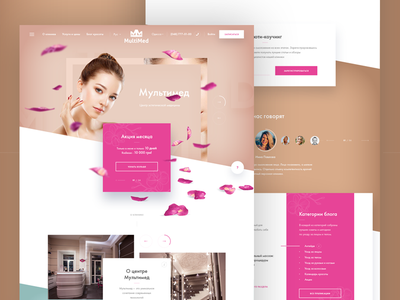 Beauty Clinic Website woman medical clean grid parallax layout homepage website spa clinic health beauty
