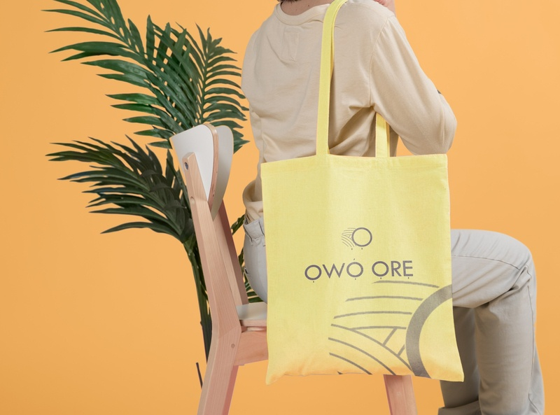 Mockup for Owo Ore Logo illustration flat concept wordmark minimalist logo design logo branding brand identity brand design