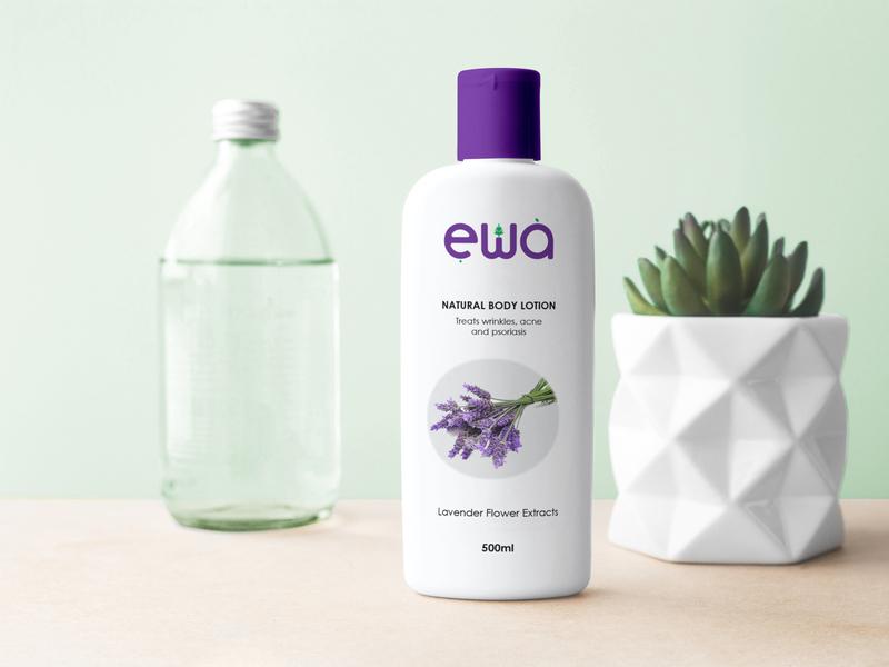 Ewa body lotion flat design concept wordmark minimalist logo design logo branding brand identity brand design