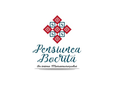 Pensiunea Bocrita logo design traditional