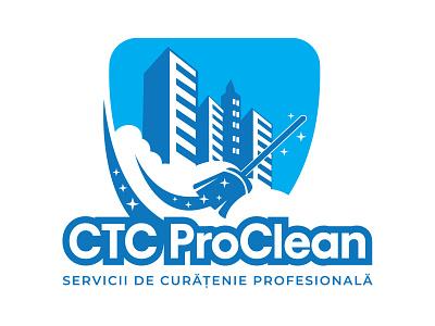CTC Proclean minimal badge services logo