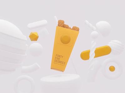 Churros Packing mockup blender3d blender 3d animation restaurant package design packaging churros