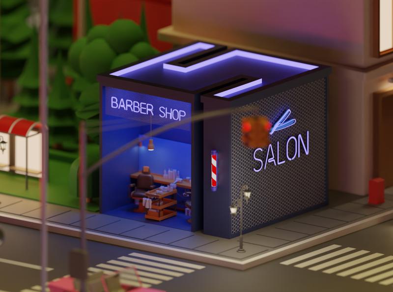 """S letter Eden """"26 Days of Type"""" blender3d blender city barbershop saloon letter lettring 36daysoftype letters"""