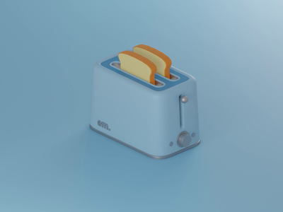 Toaster toaster low poly lowpoly vector illustration 3d blender blender3d
