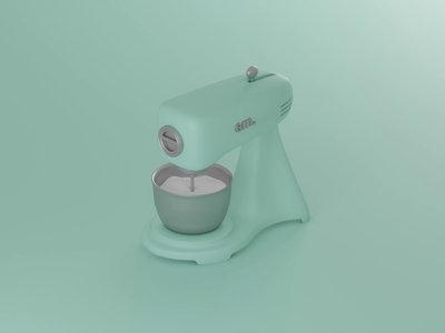 Stand mixers low poly lowpoly kitchen animation design animation mixer 3d blender illustration blender3d
