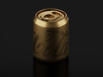 Golden Cola blendercycles isometric can drinks cocacola lettering letters 3d blender blender3d