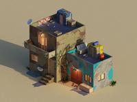 Old House - Low poly old house lowpoly isometric render illustration 3d blender3d blender