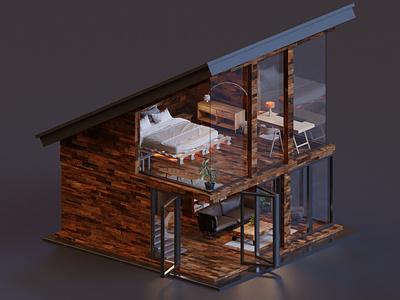 House render 3d art isometric lowpoly illustration blender3d blender 3d