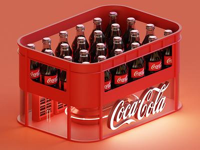 Coca - Cola Store coca store coca-cola isometric lowpoly illustration 3d blender blender3d